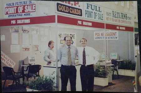 Our first trade show many many years ago.