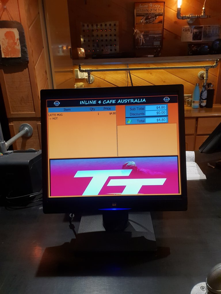 Customer restaurant software screen